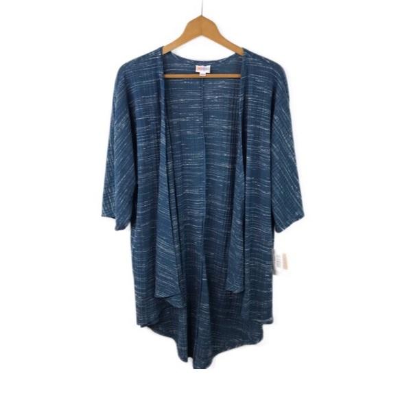 LuLaRoe Sweaters - NWT LulaRoe Blue Heather Blue Open Front Shrug